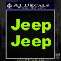 Jeep Motors Decal Sticker Lime Green Vinyl 120x120