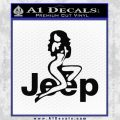 Jeep Sexy D1 Decal Sticker Black Vinyl 120x120