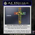 Jesus Cross Crucifix Decal Sticker D2 Glitter Sparkle 120x120