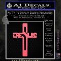Jesus Cross Crucifix Decal Sticker D2 Pink Emblem 120x120