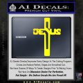 Jesus Cross Crucifix Decal Sticker D2 Yellow Laptop 120x120
