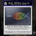 Jesus Fish Decal Sticker Tribal Glitter Sparkle 120x120