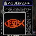 Jesus Fish Decal Sticker Tribal Orange Emblem 120x120