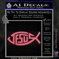 Jesus Fish Decal Sticker Tribal Pink Emblem 120x120