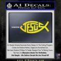 Jesus Fish Decal Sticker Tribal Yellow Laptop 120x120
