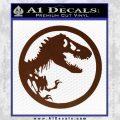 Jurassic Park CR Decal Sticker BROWN Vinyl 120x120