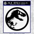 Jurassic Park CR Decal Sticker Black Vinyl 120x120