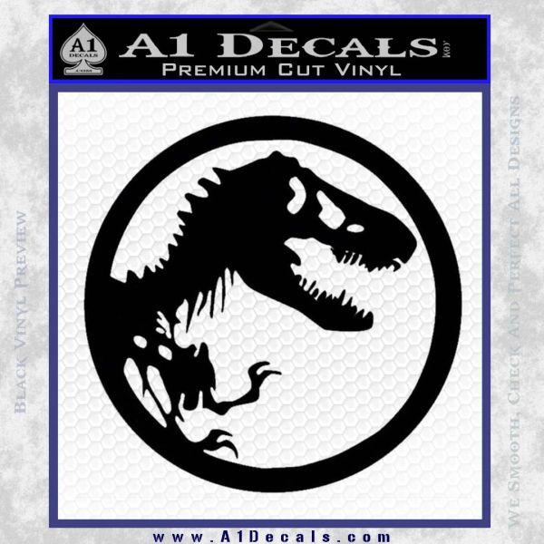 Jurassic Park CR Decal Sticker Black Vinyl