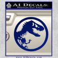 Jurassic Park CR Decal Sticker Blue Vinyl 120x120