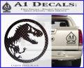 Jurassic Park CR Decal Sticker Carbon FIber Black Vinyl 120x97