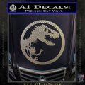 Jurassic Park CR Decal Sticker Carbon FIber Chrome Vinyl 120x120