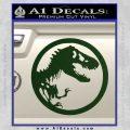 Jurassic Park CR Decal Sticker Dark Green Vinyl 120x120