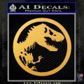 Jurassic Park CR Decal Sticker Gold Vinyl 120x120