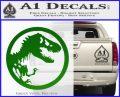 Jurassic Park CR Decal Sticker Green Vinyl Logo 120x97