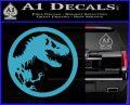 Jurassic Park CR Decal Sticker Light Blue Vinyl 120x97