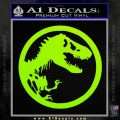 Jurassic Park CR Decal Sticker Lime Green Vinyl 120x120