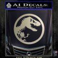 Jurassic Park CR Decal Sticker Metallic Silver Emblem 120x120