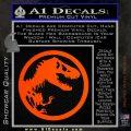 Jurassic Park CR Decal Sticker Orange Emblem 120x120