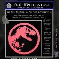 Jurassic Park CR Decal Sticker Pink Emblem 120x120