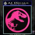 Jurassic Park CR Decal Sticker Pink Hot Vinyl 120x120