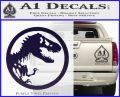 Jurassic Park CR Decal Sticker PurpleEmblem Logo 120x97