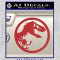 Jurassic Park CR Decal Sticker Red 120x120