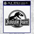 Jurassic Park Title Decal Sticker Black Vinyl 120x120