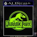Jurassic Park Title Decal Sticker Lime Green Vinyl 120x120