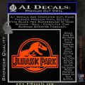 Jurassic Park Title Decal Sticker Orange Emblem 120x120