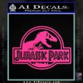 Jurassic Park Title Decal Sticker Pink Hot Vinyl 120x120
