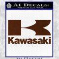 Kawasaki Full Decal Sticker BROWN Vinyl 120x120