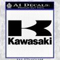 Kawasaki Full Decal Sticker Black Vinyl 120x120