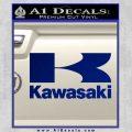 Kawasaki Full Decal Sticker Blue Vinyl 120x120