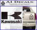 Kawasaki Full Decal Sticker Carbon FIber Black Vinyl 120x97