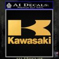 Kawasaki Full Decal Sticker Gold Vinyl 120x120