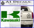 Kawasaki Full Decal Sticker Green Vinyl Logo 120x97
