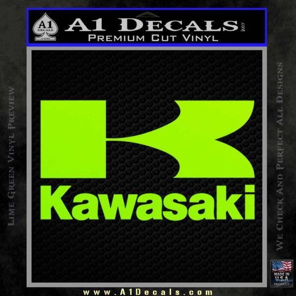 Kawasaki Full Decal Sticker Lime Green Vinyl