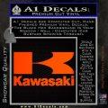Kawasaki Full Decal Sticker Orange Emblem 120x120