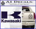 Kawasaki Full Decal Sticker PurpleEmblem Logo 120x97