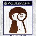 Keyhole Sexy Decal Sticker BROWN Vinyl 120x120