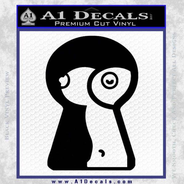 Keyhole Sexy Decal Sticker Black Vinyl