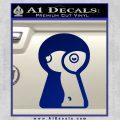 Keyhole Sexy Decal Sticker Blue Vinyl 120x120