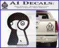 Keyhole Sexy Decal Sticker Carbon FIber Black Vinyl 120x97