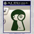 Keyhole Sexy Decal Sticker Dark Green Vinyl 120x120