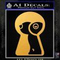 Keyhole Sexy Decal Sticker Gold Vinyl 120x120