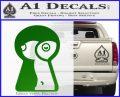 Keyhole Sexy Decal Sticker Green Vinyl Logo 120x97