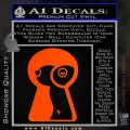 Keyhole Sexy Decal Sticker Orange Emblem 120x120