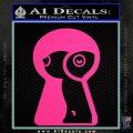 Keyhole Sexy Decal Sticker Pink Hot Vinyl 120x120