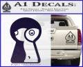 Keyhole Sexy Decal Sticker PurpleEmblem Logo 120x97