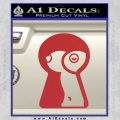 Keyhole Sexy Decal Sticker Red 120x120